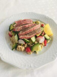 Salade met rosbief l recept l Diëtiste Sleegers te Deurne