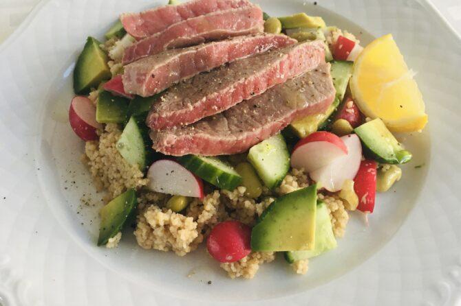Salade met rosbief