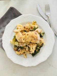 ovenschotel met kabeljauw en andijvie l recept l dietist Deurne