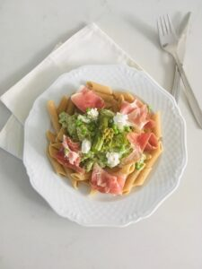 pasta met groene asperges l recept l Dietistenpraktijk Deurne